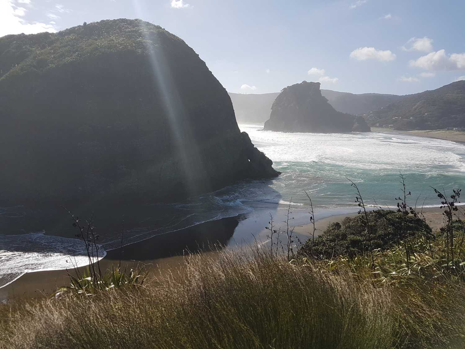 Piha beach in perfect weather