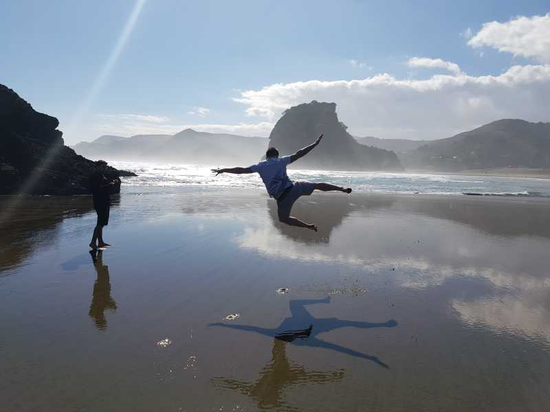 Exploring Piha Beach