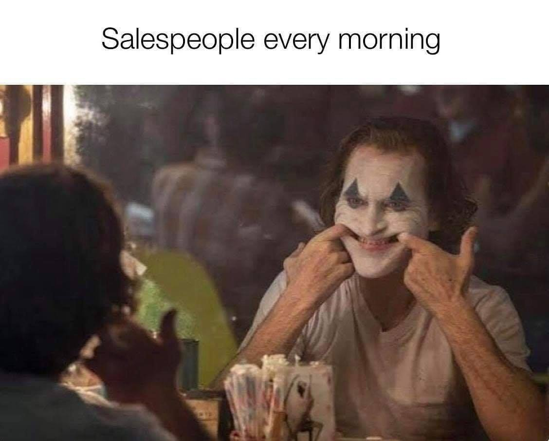 Dooly Sales Meme 19 - salespeople every morning