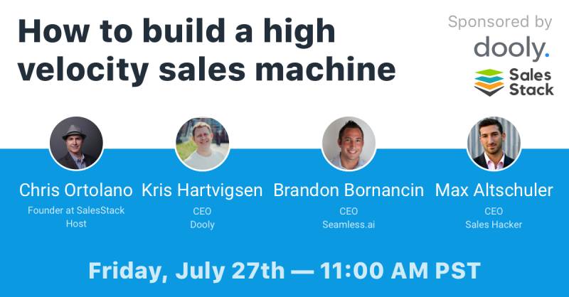 Building a High Velocity Sales Machine