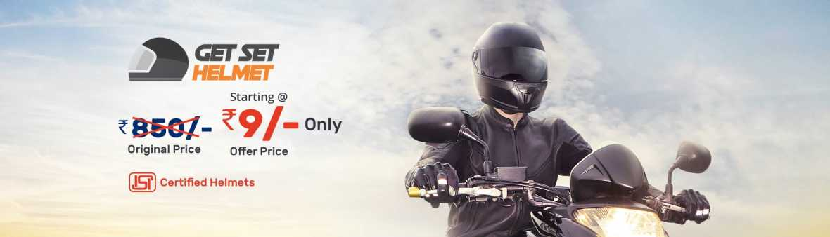 Droom Get Set Helmet Flash Sale : Buy Helmet worth Rs.799 at Rs. 9 Only On 15th July @10AM