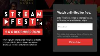 Netflix's Free Weekend offer, StreamFest, Begins December on 5, 2020. Details and How To Activate Free Netflix