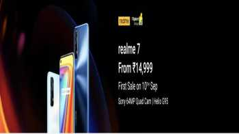 Realme 7 Flipkart Price Rs 14999: Next Sale on 10th September at 12 Noon, Specifications & Buy Online In India
