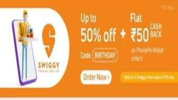 Swiggy PhonePe Offer: Upto 50% off + Rs. 50 CashBack on PhonepPe Wallet - Two times per user