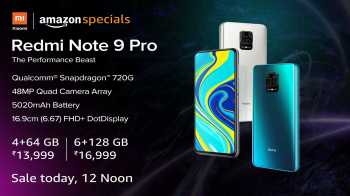 [SALE TODAY] Amazon sale: Xiaomi Redmi Note 9 Pro Sale on 16th June @ 12 Noon from Amazon, Price Starts from Rs.13999 + Airtel double data offer