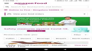 Amazon India started food delivery service in Bengaluru: Offers Free delivery and packing, also 20% amazon pay cashback for limited period
