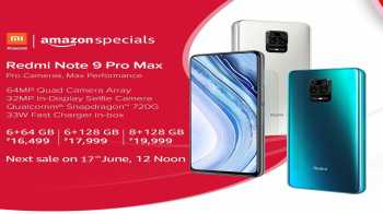 Amazon sale: Xiaomi Redmi Note 9 Pro Max Sale on 27th May @ 12PM from Amazon, Price Starts from Rs.16499 + Airtel double data offer