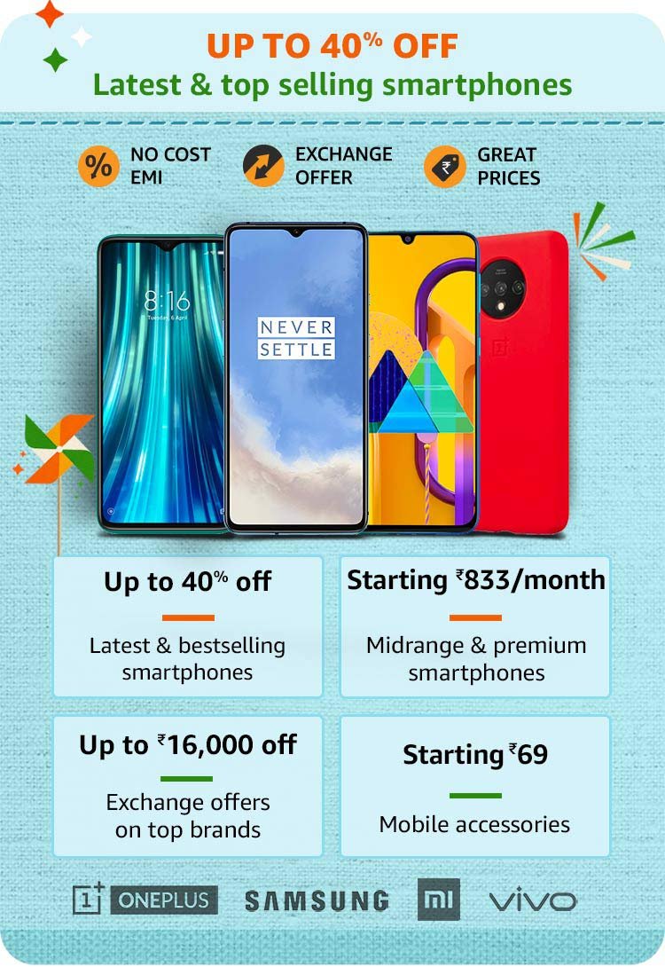 Amazon Great Indian Festival Sale 2020 Offers on Mobiles and SmartPhones