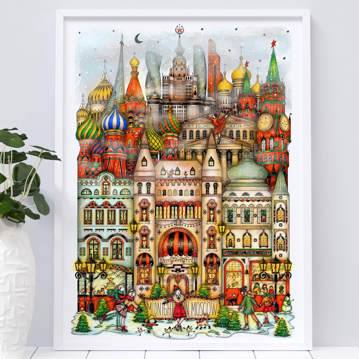 "Instagram post: ✨Two more days to place orders in the shop ✨ before I make a little break. ♥️   Happy Thursday everyone! ☀️ How are you all doing these days? Just wanted to say I am happy you liked my Moscow illustration and I am very grateful for your orders! 🧡💚❤️  I also have some exciting news. 🥳 I've started working on my next city illustration and this will be ""Midnight in San Francisco"". 🇺🇸 🌆 It is a challenge and I am so looking forward to showing this to you. I loved the colorful Victorian houses and the cable cars. ✨💗 Stay tuned, take care and thank you so much for your support on my art! 🤗 • • • #madalinadraws #madalinatantareanu #midnightinmoscow #moscowdrawing #moscowpostcard #watercolormoscow #russia #fromrussiawithlove #illustration #drawing #art #artist #artwork #etsy #etsyartshop #artistonetsy #artistoninstagram #postermoscow #ipadpro #procreate #colorfulmoscow #etsyseller #idrawandtravel #kremlin #stbasilscathedral #pushkin #bolshoitheatre #lomonosov"