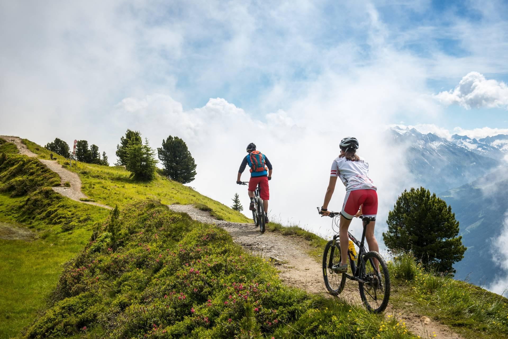 Unterwegs mit dem Bike am Plateau Penken im Zillertal
