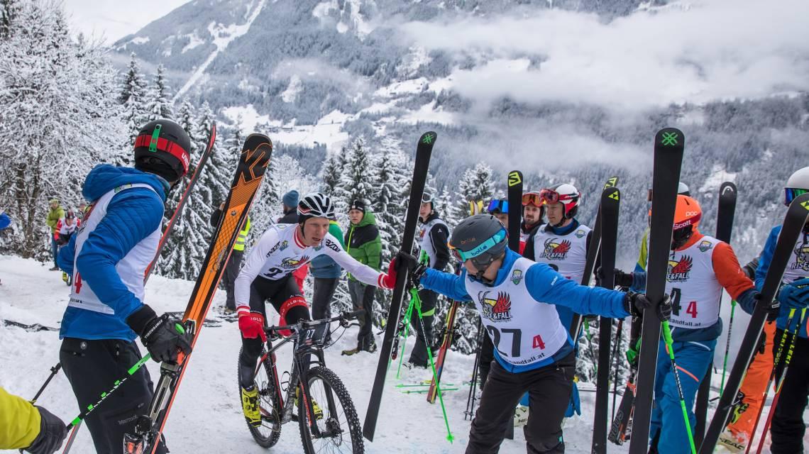 Mountainbiken ist eine von vier Disziplinen beim RISE&FALL in Mayrhofen.