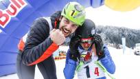 Athletes celebrate their performance at RISE&FALL in Mayrhofen in the Zillertal.