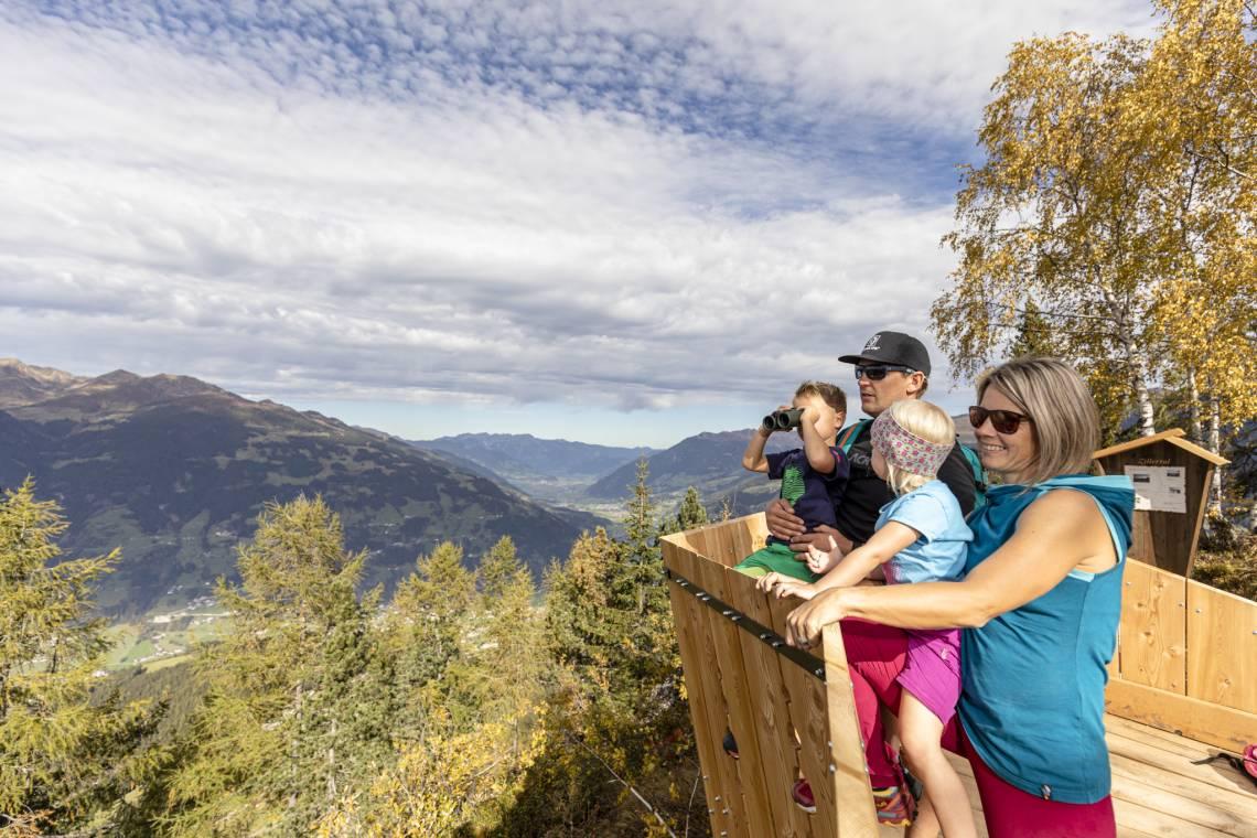 Zillertal Almtribühne - viewing platform on Mount Gerlosstein