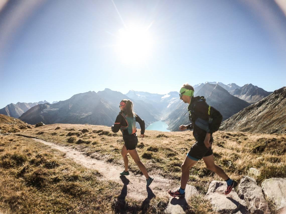 Trailrunner unterwegs am Schlegeis3000 Trail
