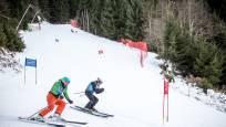Auch Skifahren ist ein Wettbewerb bei RISE&FALL.
