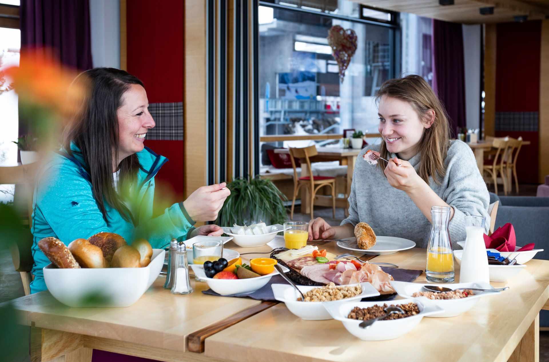 Frühstück am Penken in Mayrhofen im Zillertal