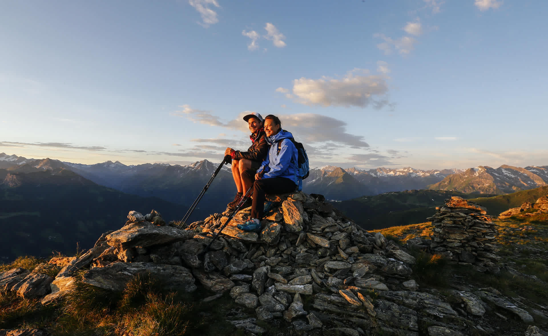 Enjoy the sunrise in the Zillertal