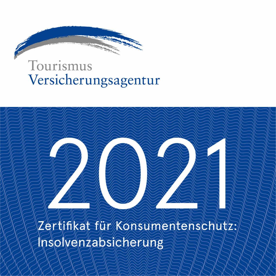 Zertifikat für Konsumentenschutz: Insolvenzabsicherung - Tourismus Versicherungsagentur