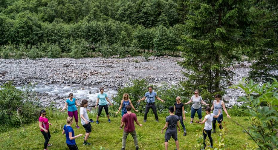 Qi Gong Exercise in the Zemmgrund