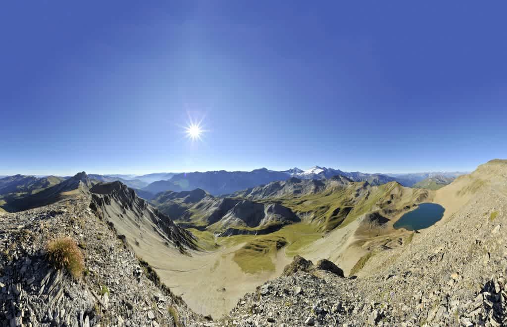 Mountain panorama of the Tuxer Alpes