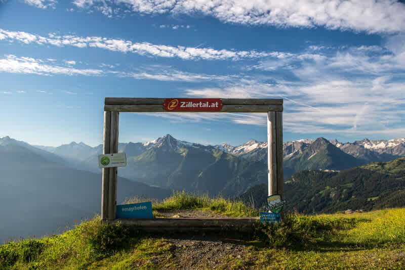 Fotopoint at  the Zillertal panoramic road