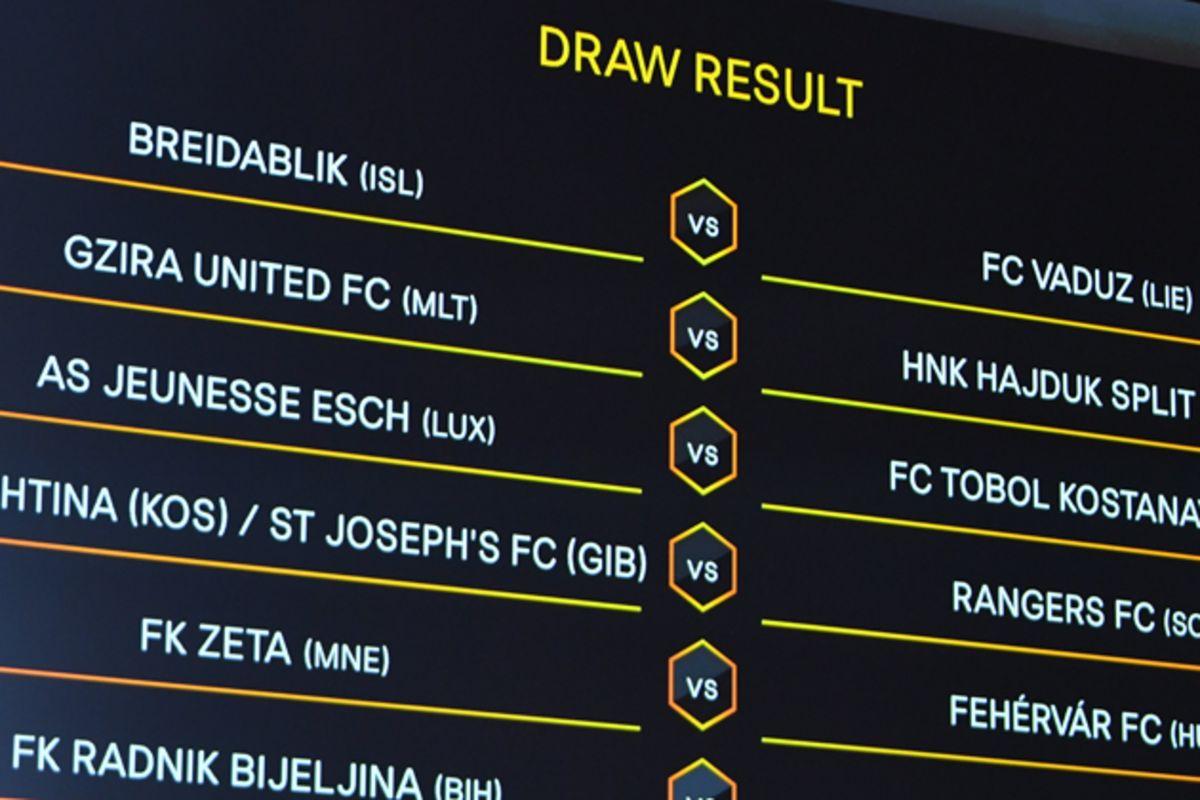 europa league draw rangers football club rangers football club