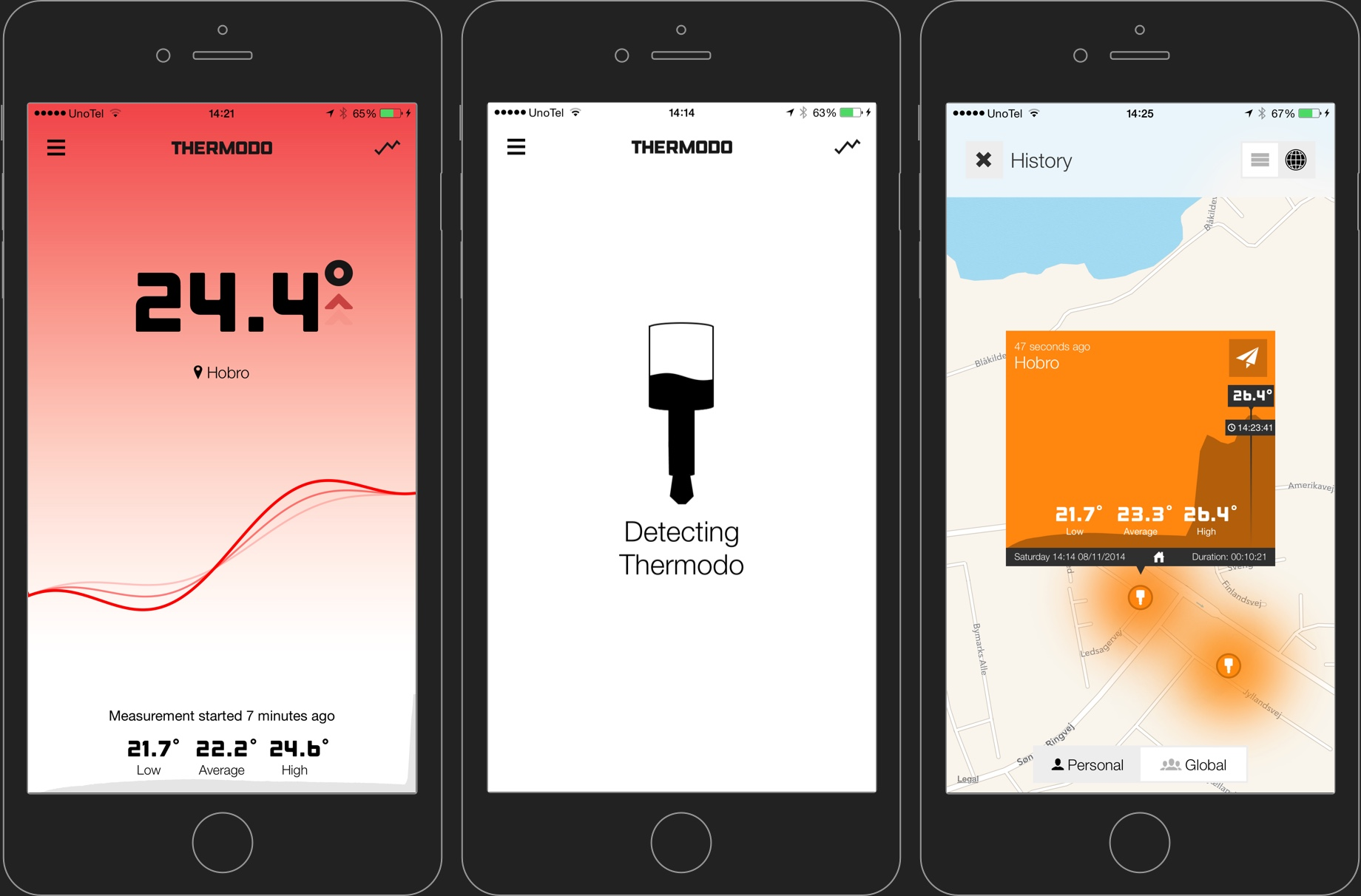 Thermodo App Screenshots