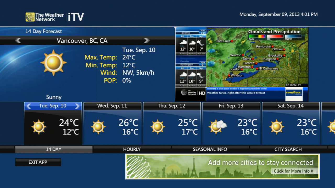 The Weather Network - Check Forecasts - Optik TV Apps | TELUS