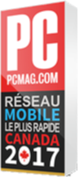Trophy from PC Mag - Fastest Mobile Network Canada 2017