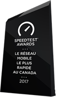 Trophy for Ookla Speed Test awards 2017 - Fastest Mobile Network