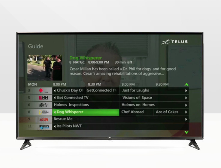 telus fiber optic channel guide