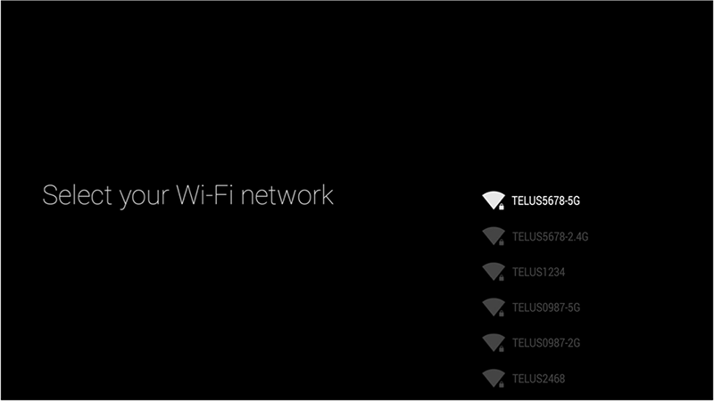 Select your Wifi Network