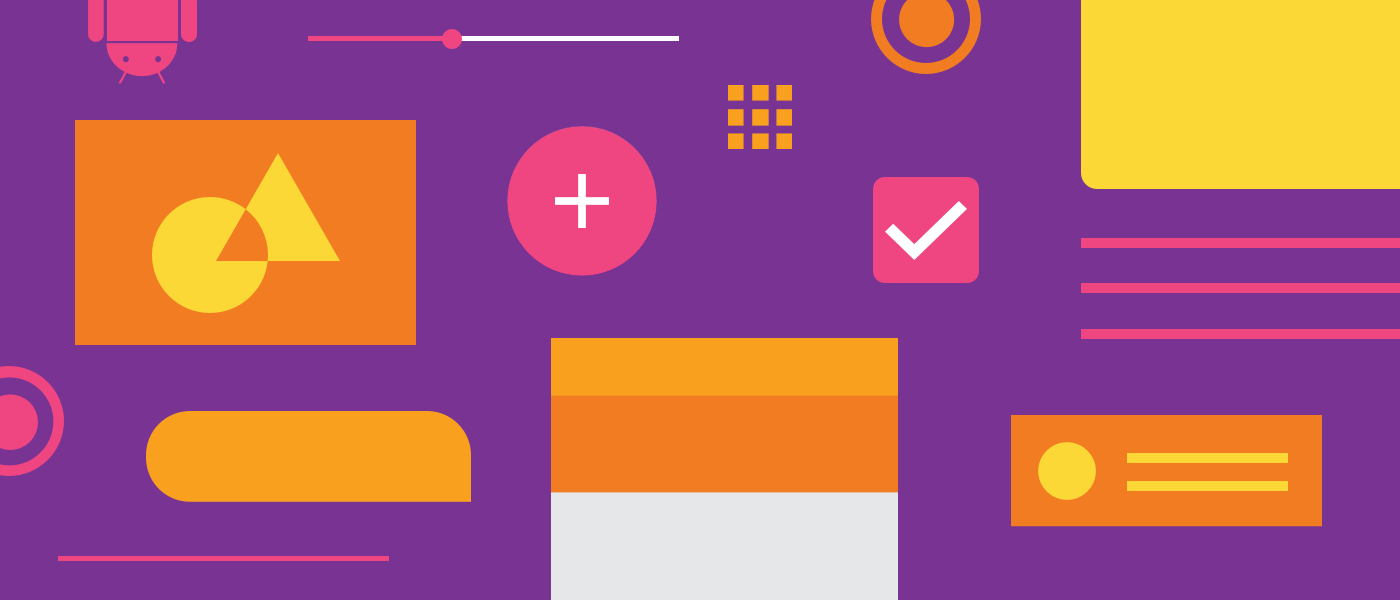 Pattern of Android material design elements