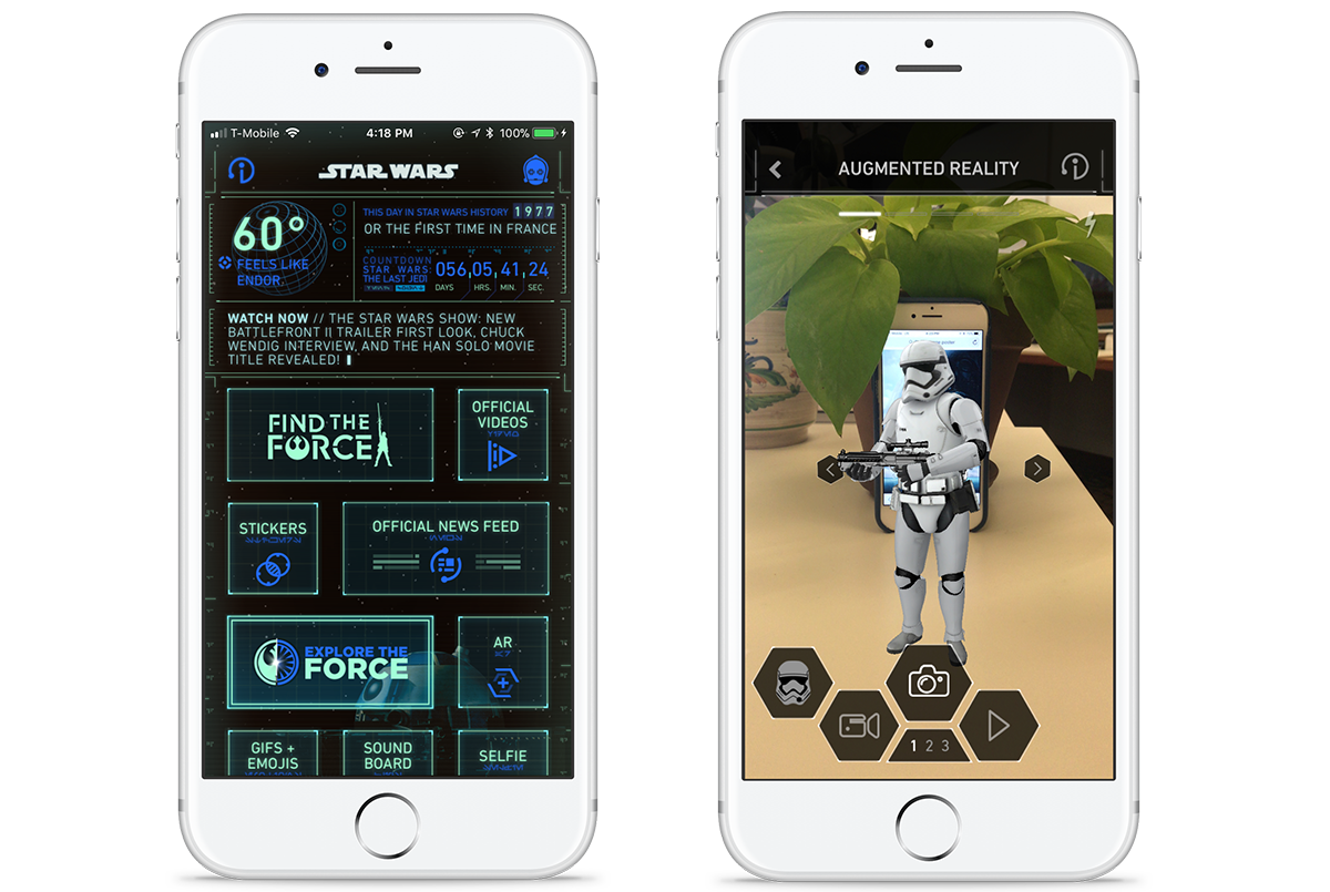 Star Wars AR Screengrab iOS