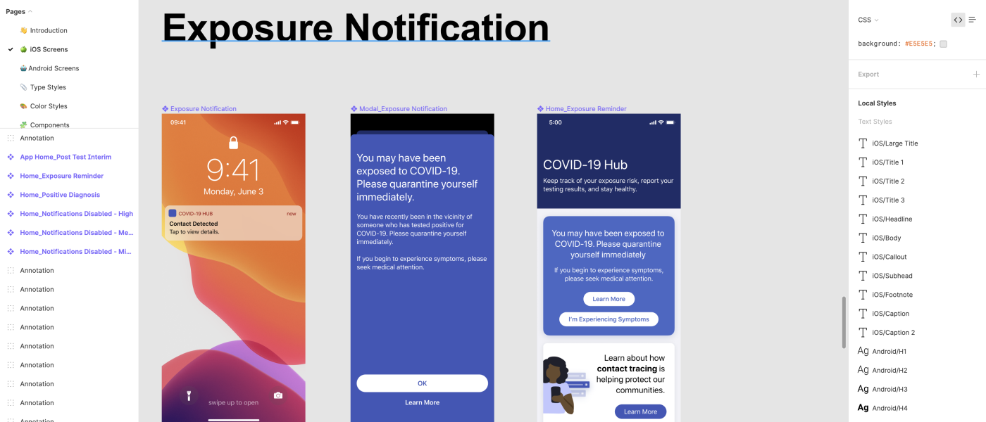 Free Covid 19 Exposure Notifications App Framework Design System Willowtree