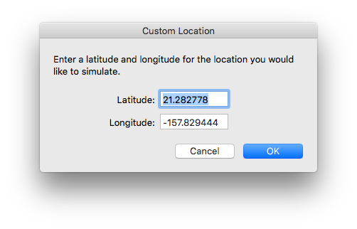 Simulating Location in iOS
