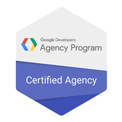 Google Developers Agency Program logo recognizing WillowTree is an Android Certified Agency