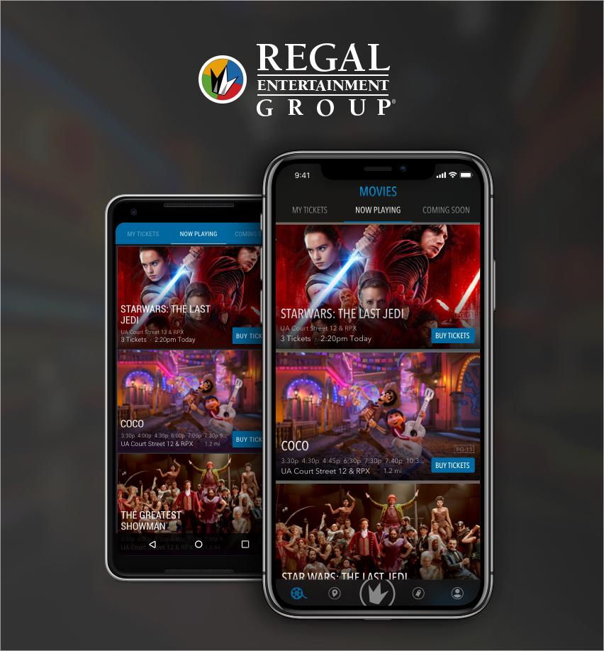 regal cinemas app for ios android tvos willowtree. Black Bedroom Furniture Sets. Home Design Ideas