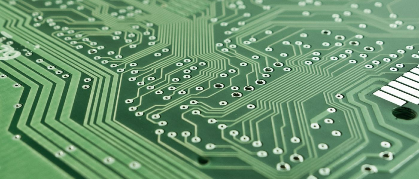 closeup shot of circuit board