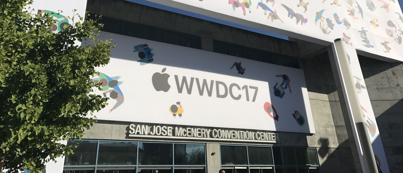 Exterior of San Jose convention center, site of Apple's 2017 Worldwide Developers Conference (WWDC)