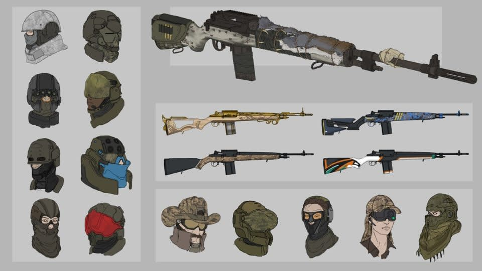 Weapon and equipment concepts