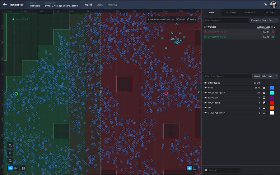 Screenshot of Inspector interface