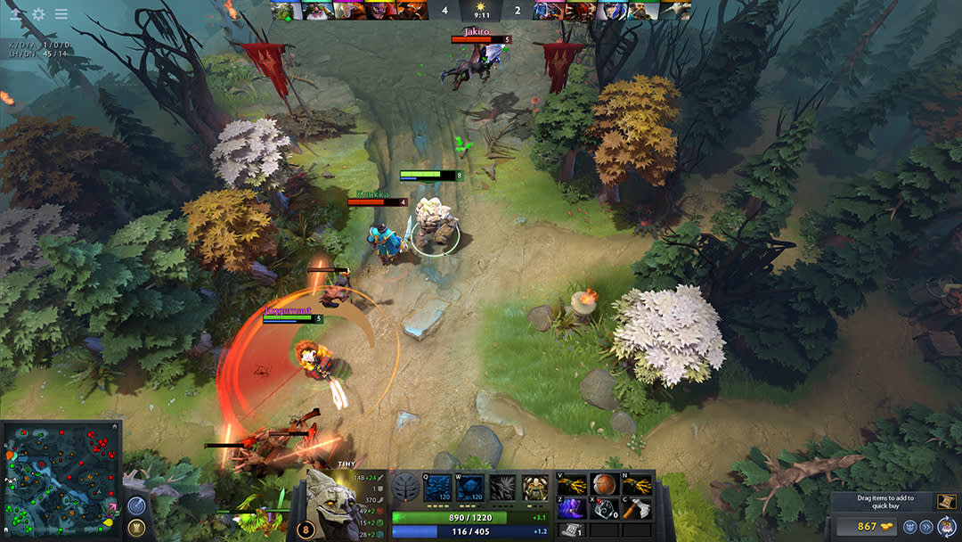 Valve's DOTA 2 screenshot