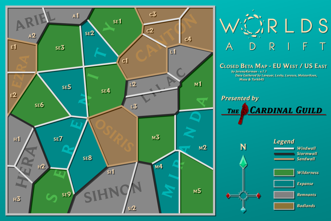 Worlds Adrift Us East Map On the new worlds in Worlds Adrift – Improbable