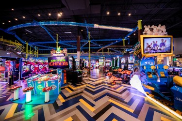 Games area at Main Event