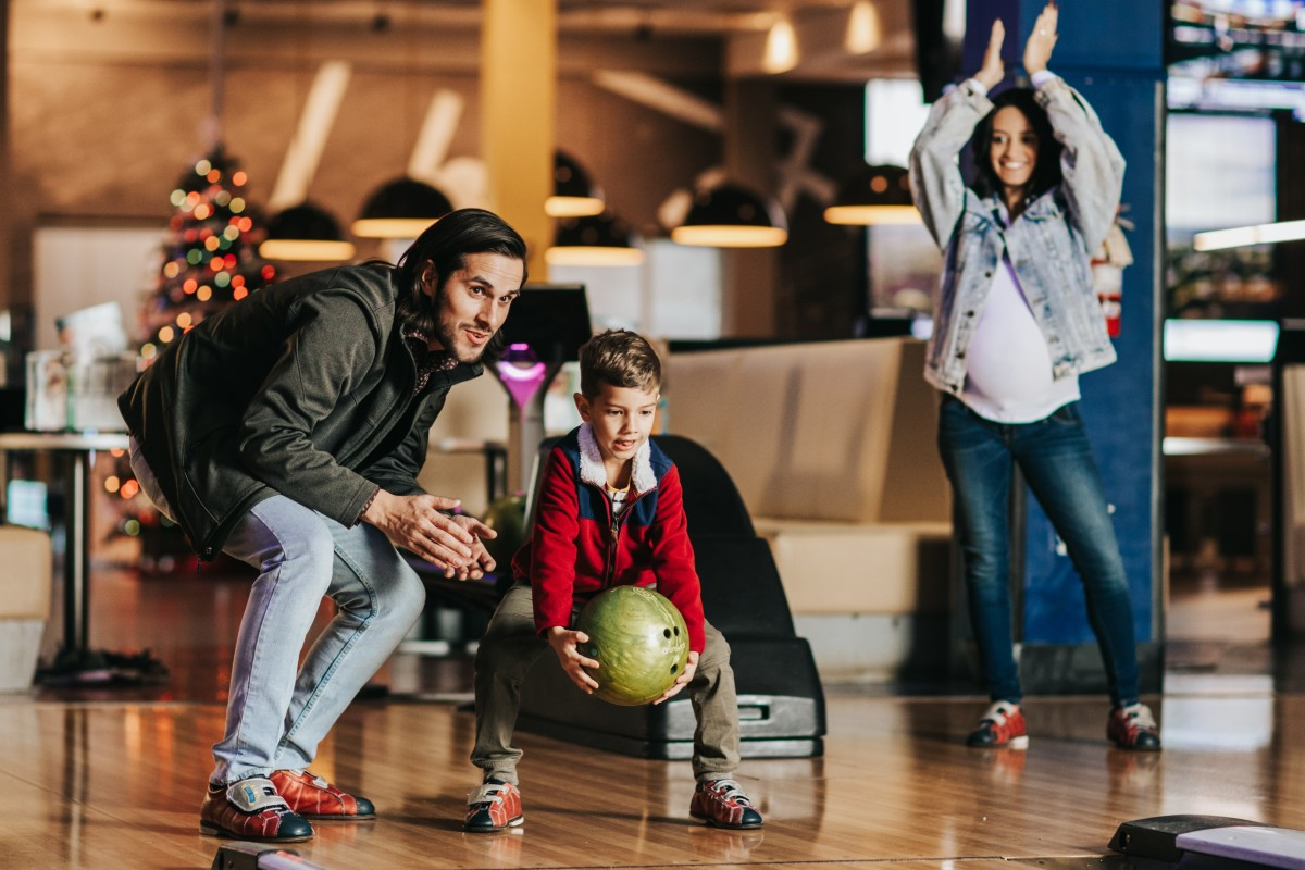 Father & Son Bowling at Main Event