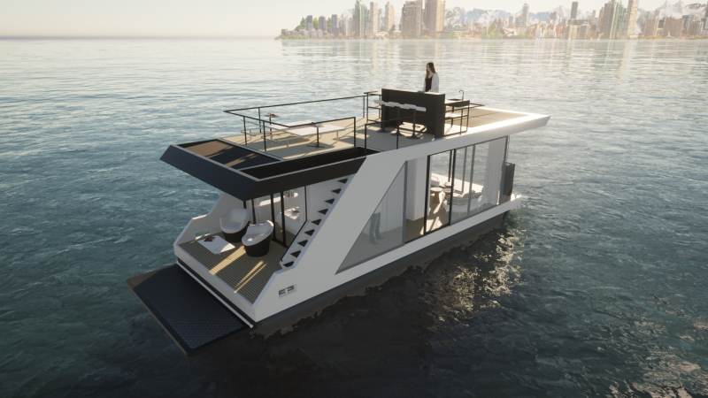 Luxury houseboat THE 50