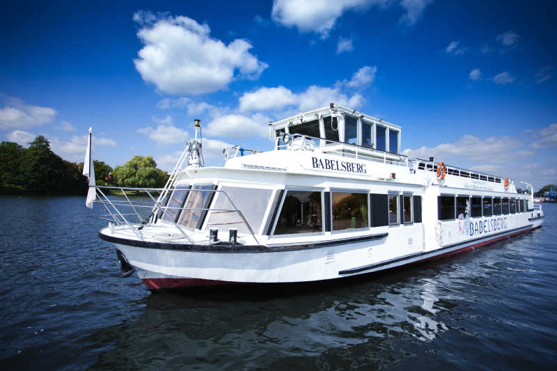 Passenger ship MS Babelsberg on a boat tour to Müggelsee