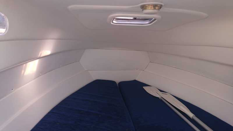Bunk on the Margot motorboat
