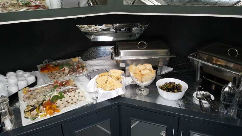 Catering in the bow of the Araya yacht